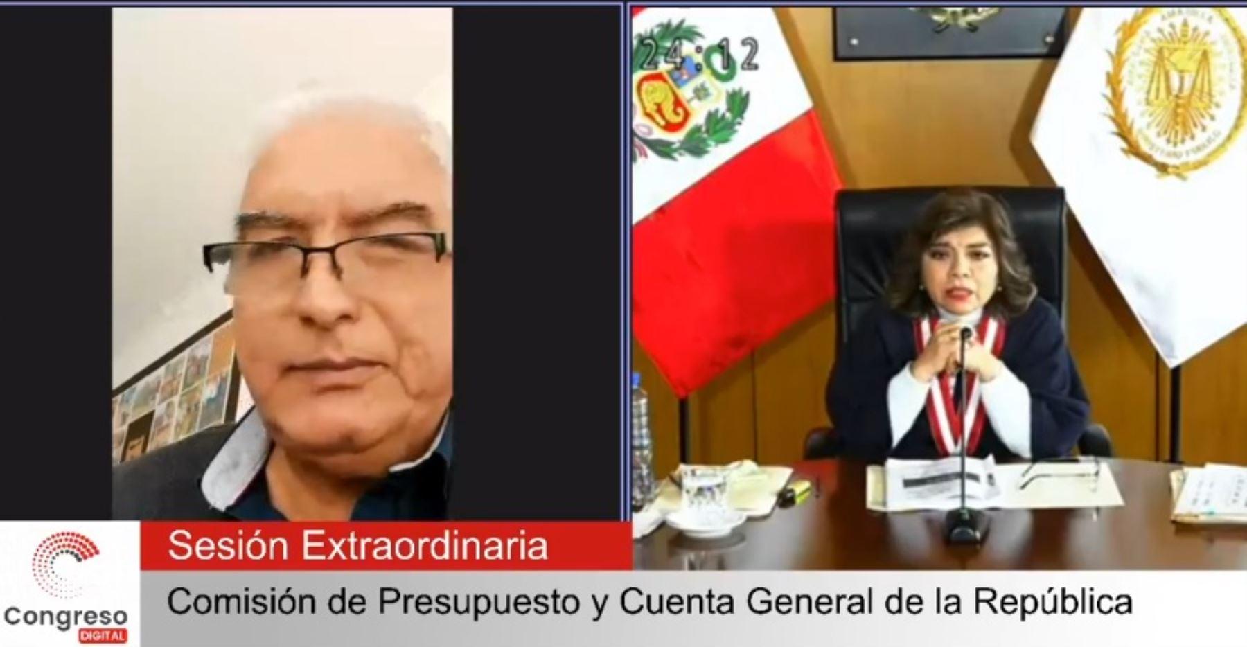 Fiscal de la Nación sustentó pliego para el 2022 ante Comisión de Presupuesto