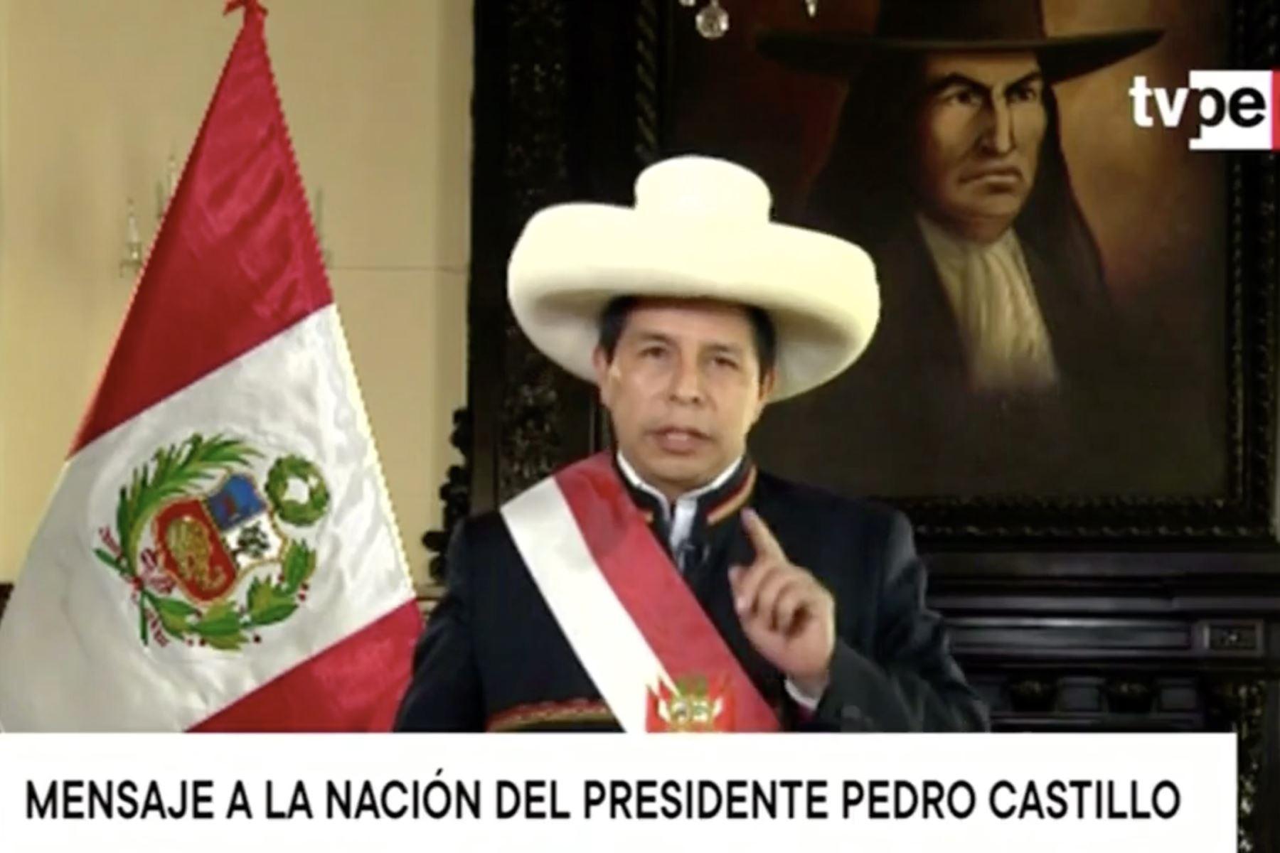 Presidente Castillo acepta renuncia de Guido Bellido