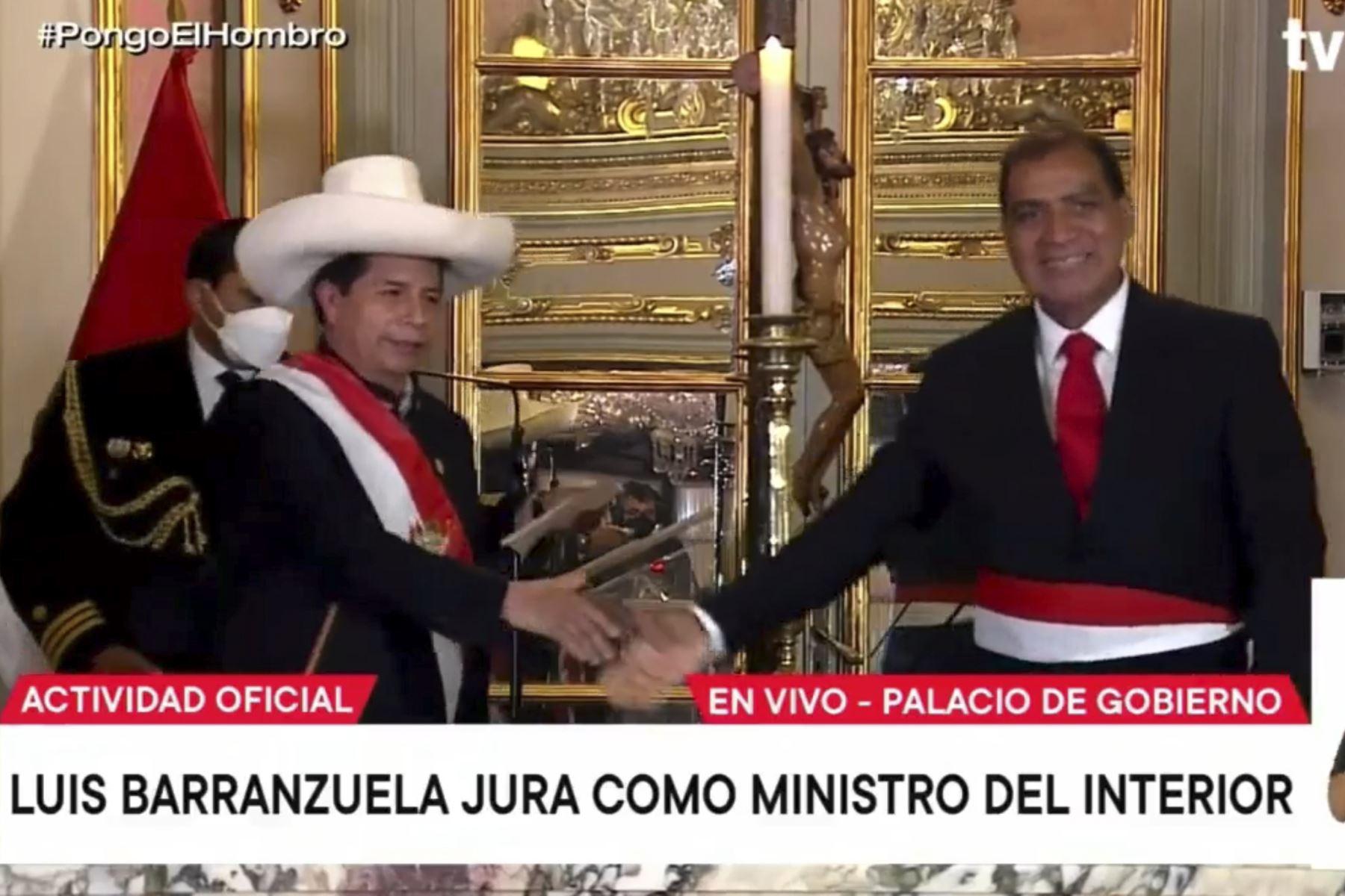 Luis Barranzuela jura como nuevo ministro del Interior