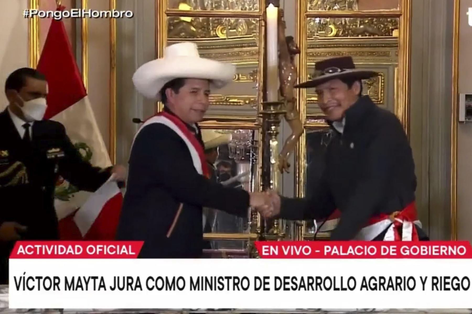 Víctor Maita Frisancho jura como ministro de Desarrollo Agrario y Riego