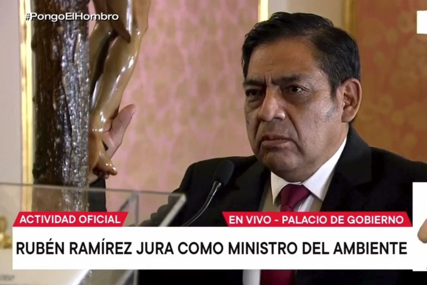 Rubén Ramírez Mateo fue ratificado como ministro del Ambiente