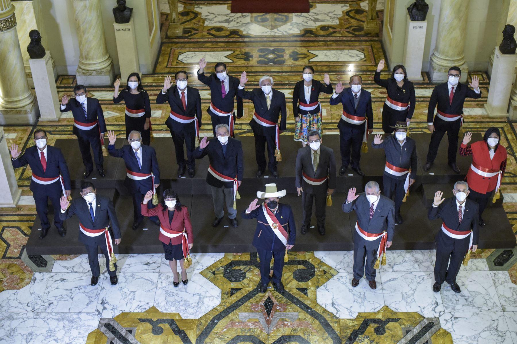 Gabinete Vásquez: estos son los integrantes del Consejo de Ministros