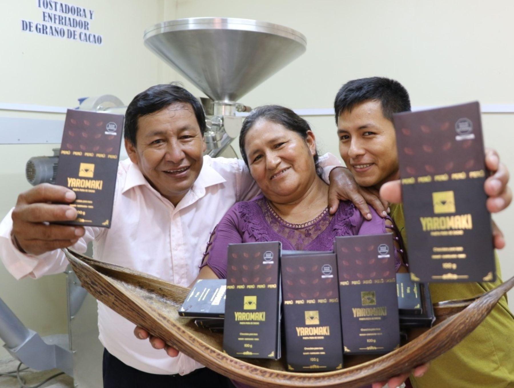 Agricultores de la selva de Puno, Cusco y Madre de Dios innovan con chocolate elaborado a base de pasta de cacao orgánico. ANDINA/Difusión