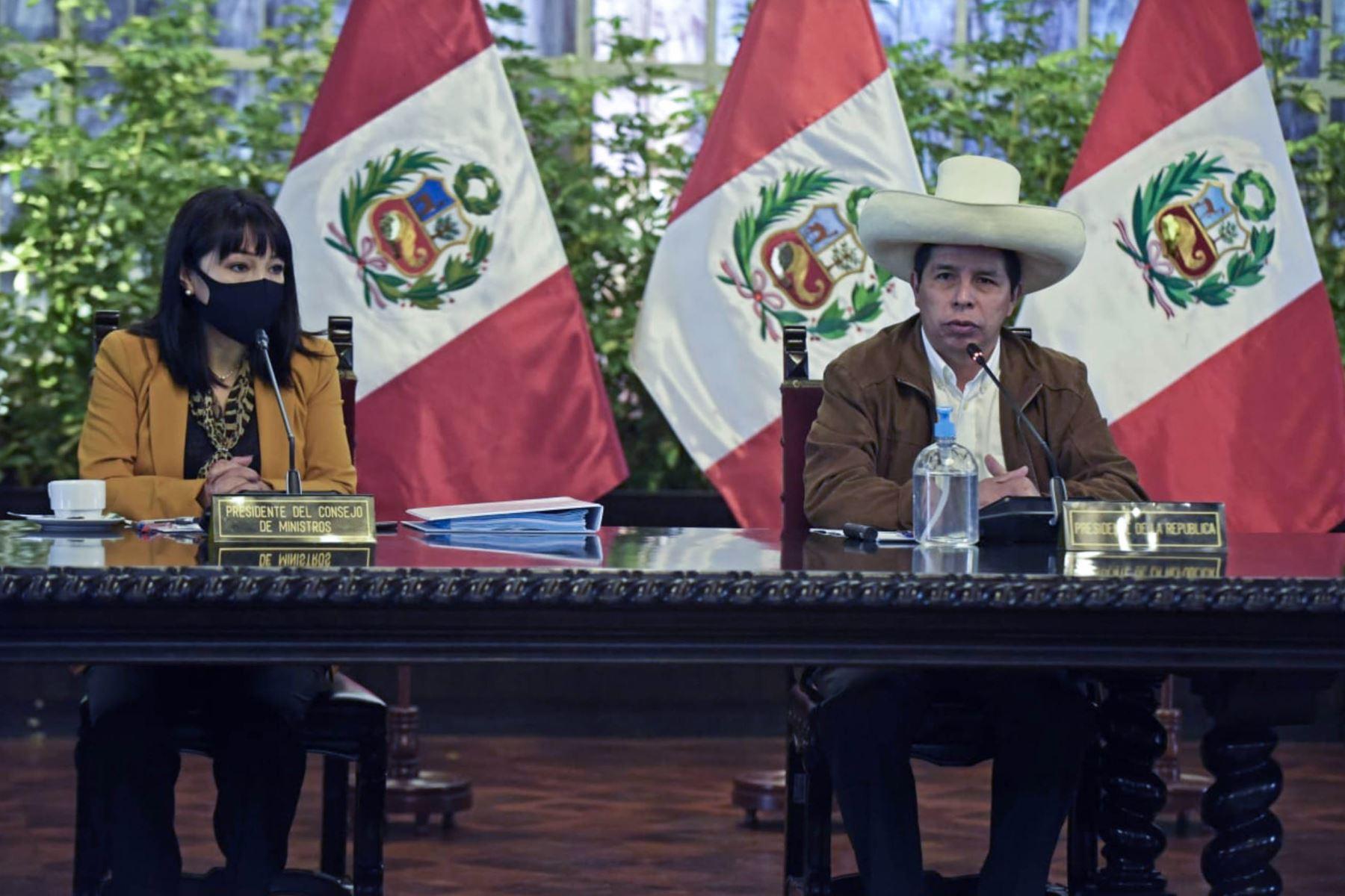 Presidente Castillo: reunión de Gabinete definió trabajo a corto plazo y voto de confianza