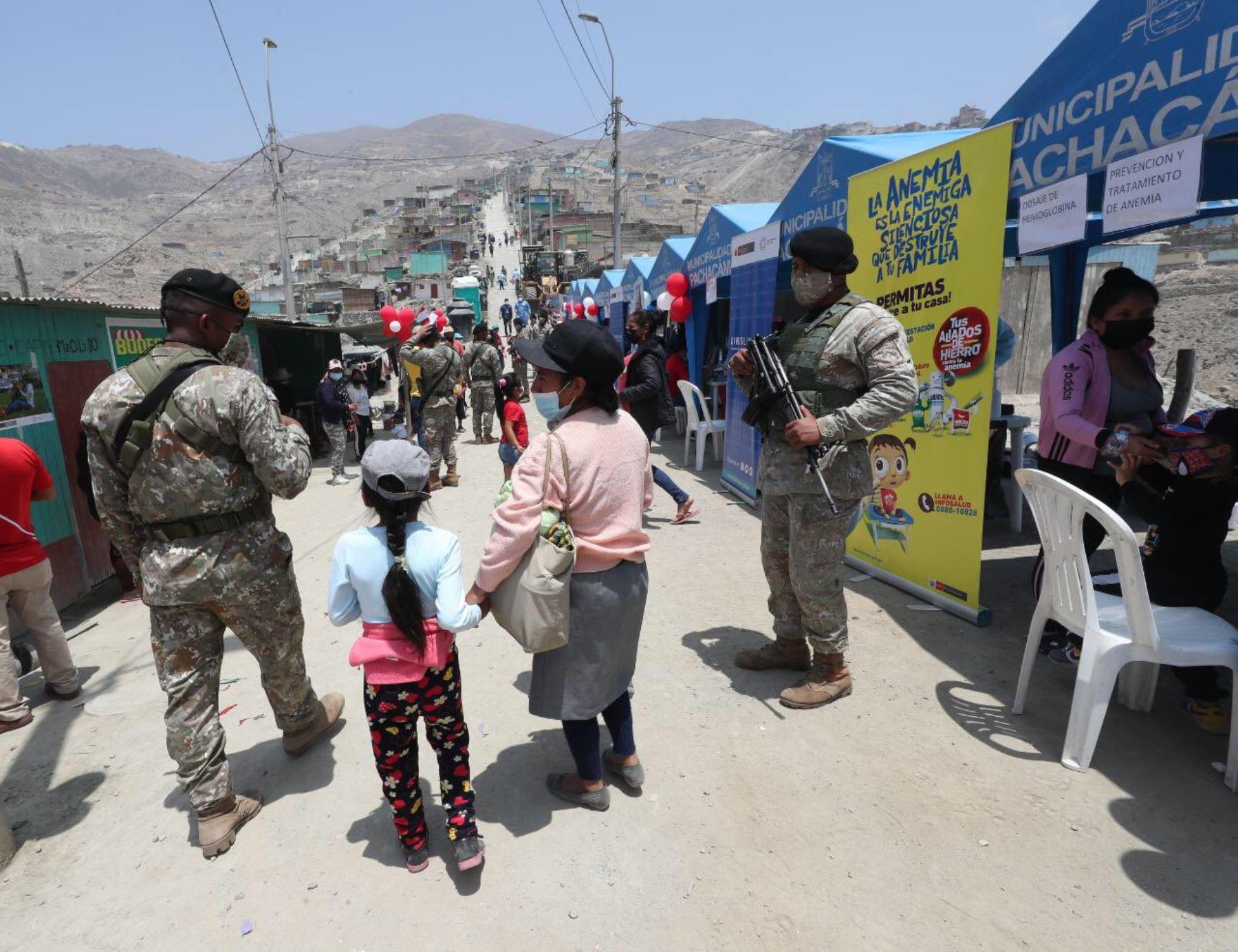 Ministerio de Defensa realiza acción cívica multisectorial en Pachacamac