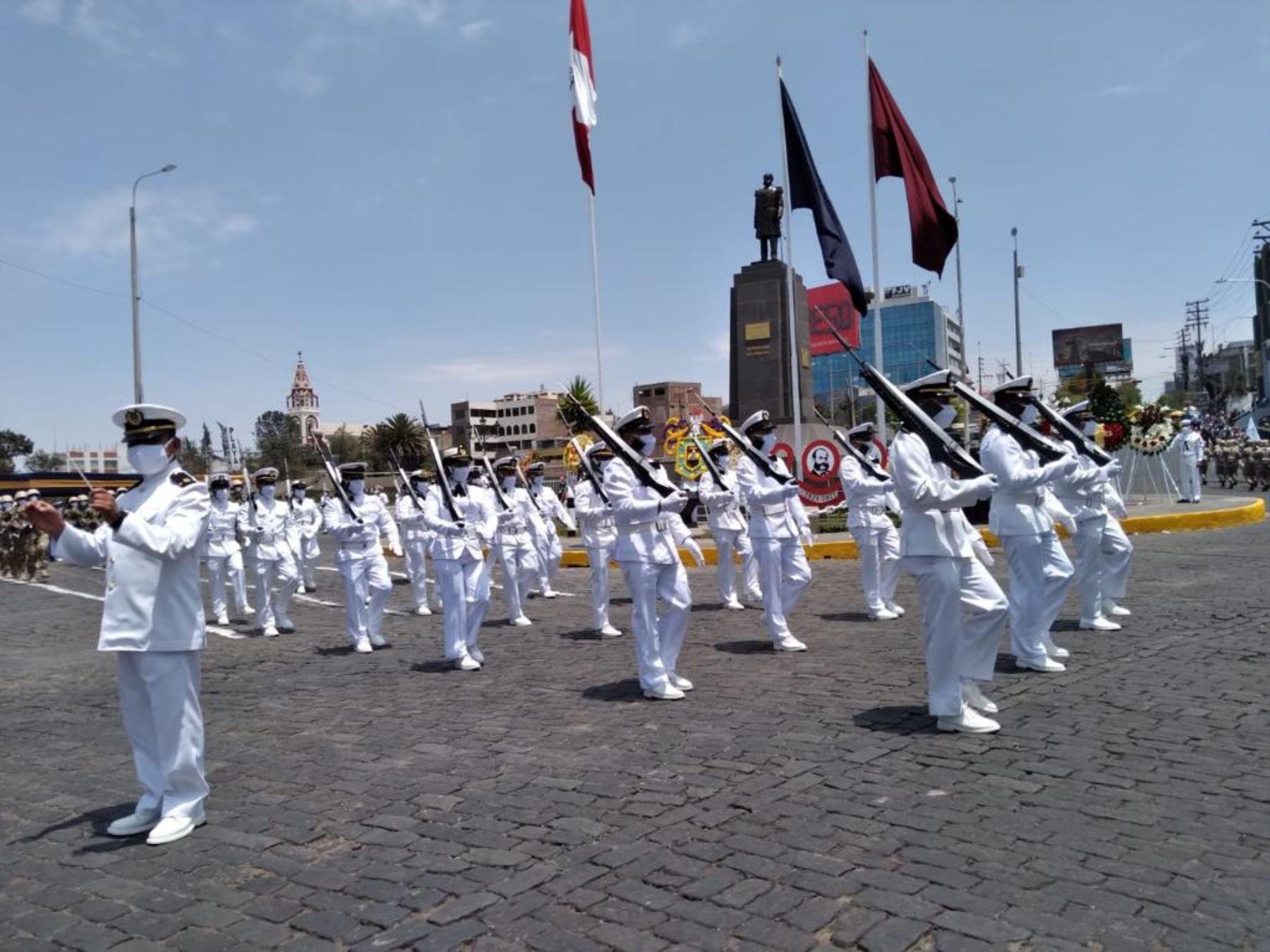 Arequipa: autoridades rinden homenaje a Miguel Grau y a la Marina de Guerra del Perú