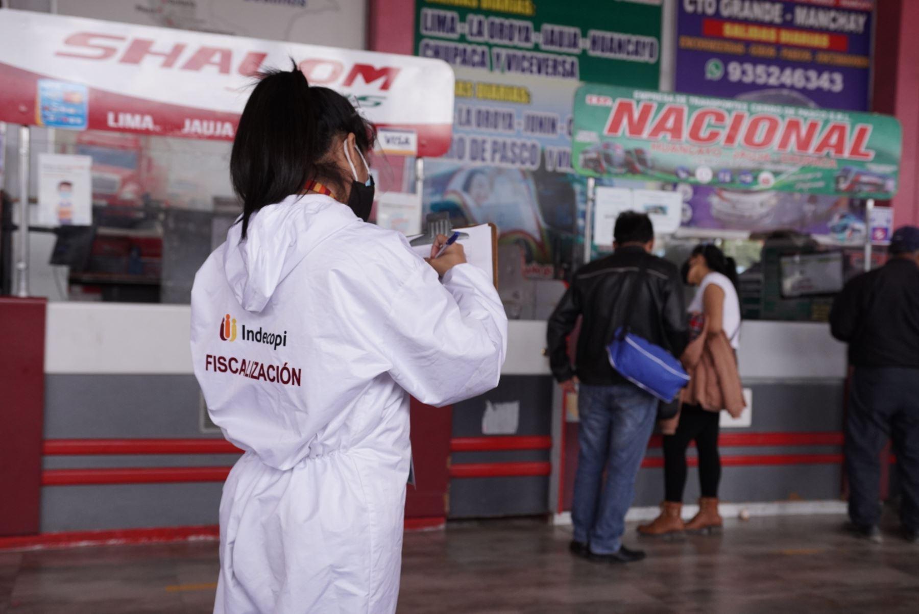 Feriado largo: Indecopi monitorea terminales de transporte terrestre interprovincial