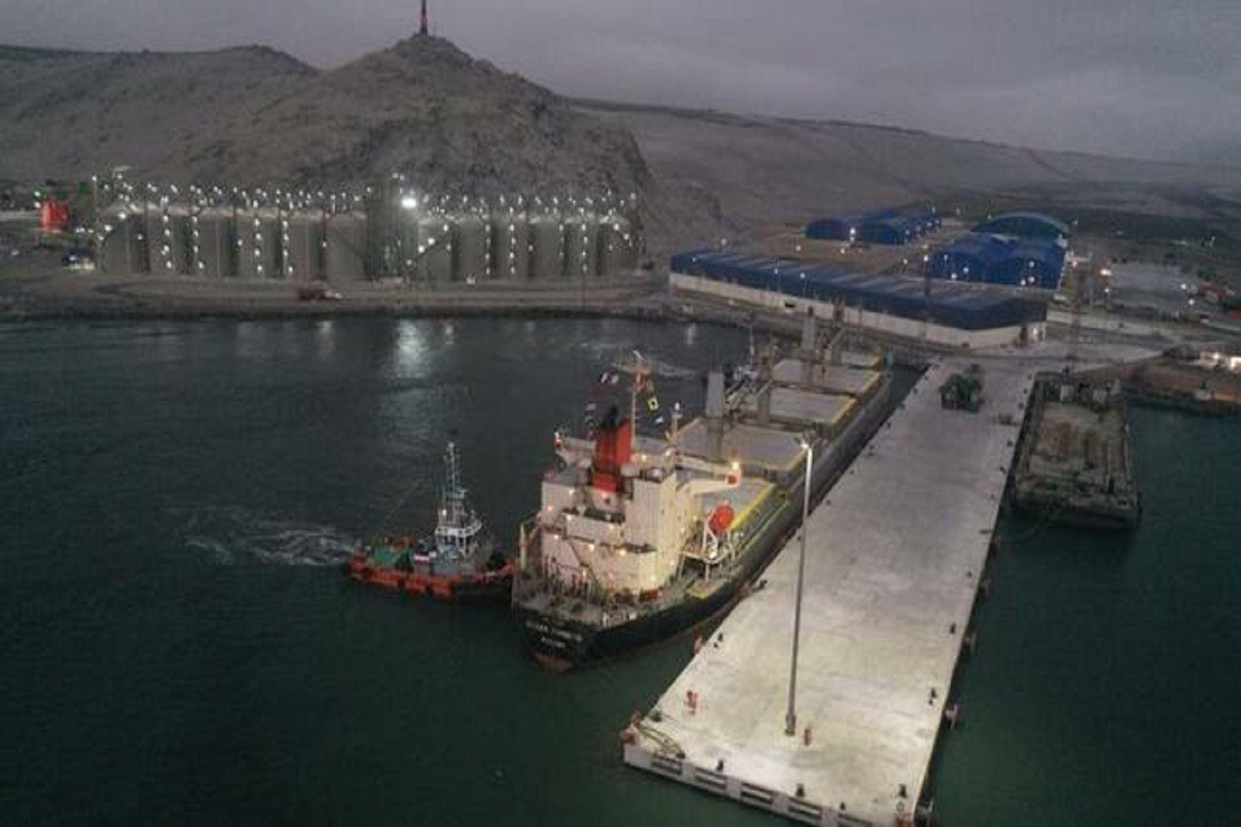 Muelle reforzado en Terminal Portuario de Salaverry recibió su primera nave comercial