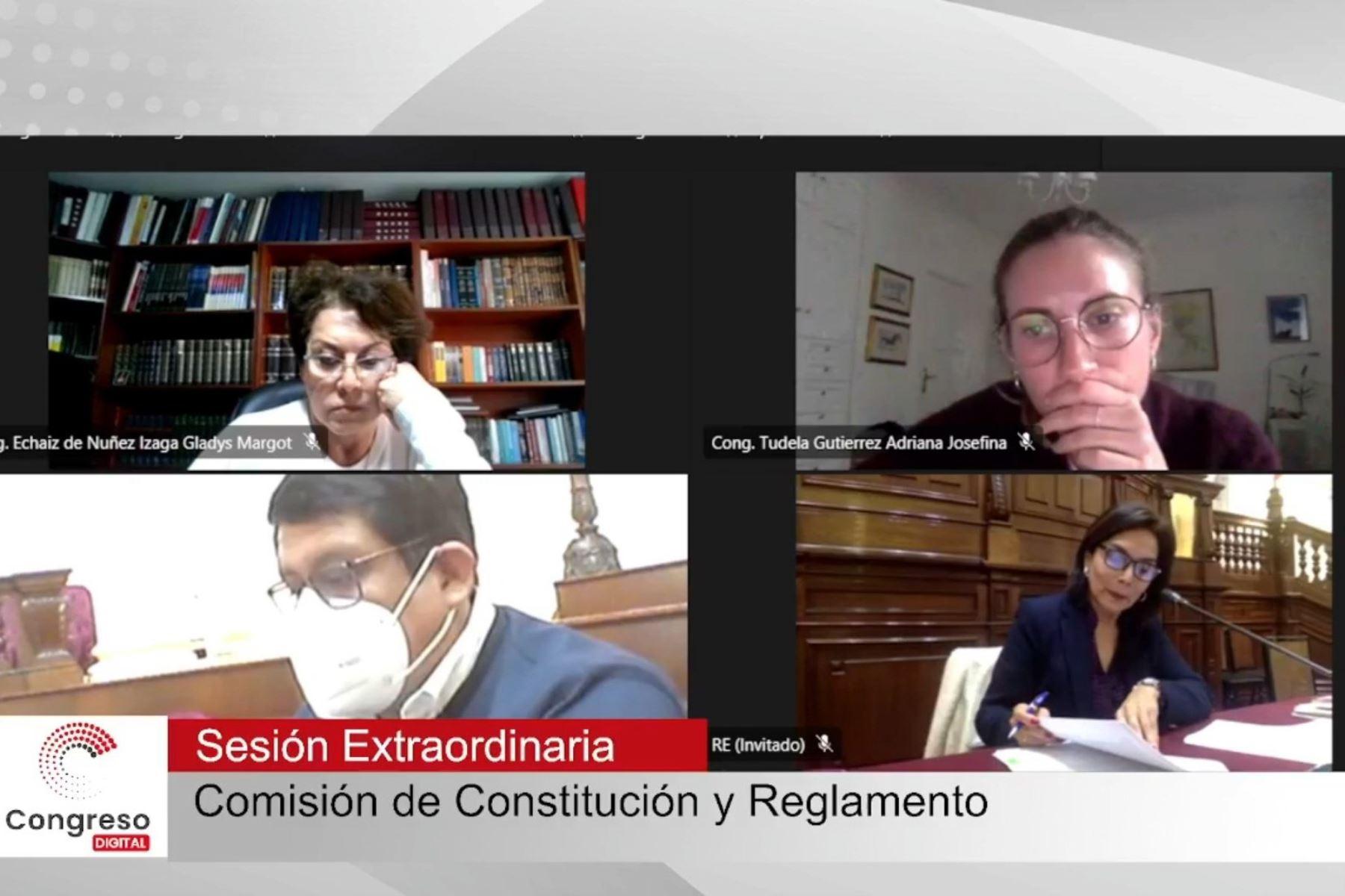 Congreso: comisión aprueba insistencia de autógrafa de ley sobre cuestión de confianza