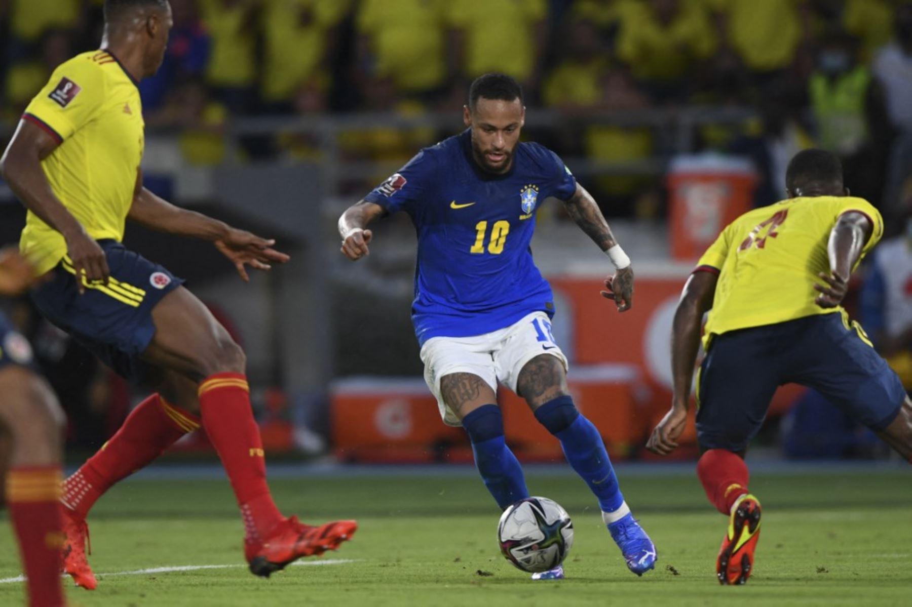 Brasil empata 0-0 con Colombia y corta racha de victorias en la eliminatoria