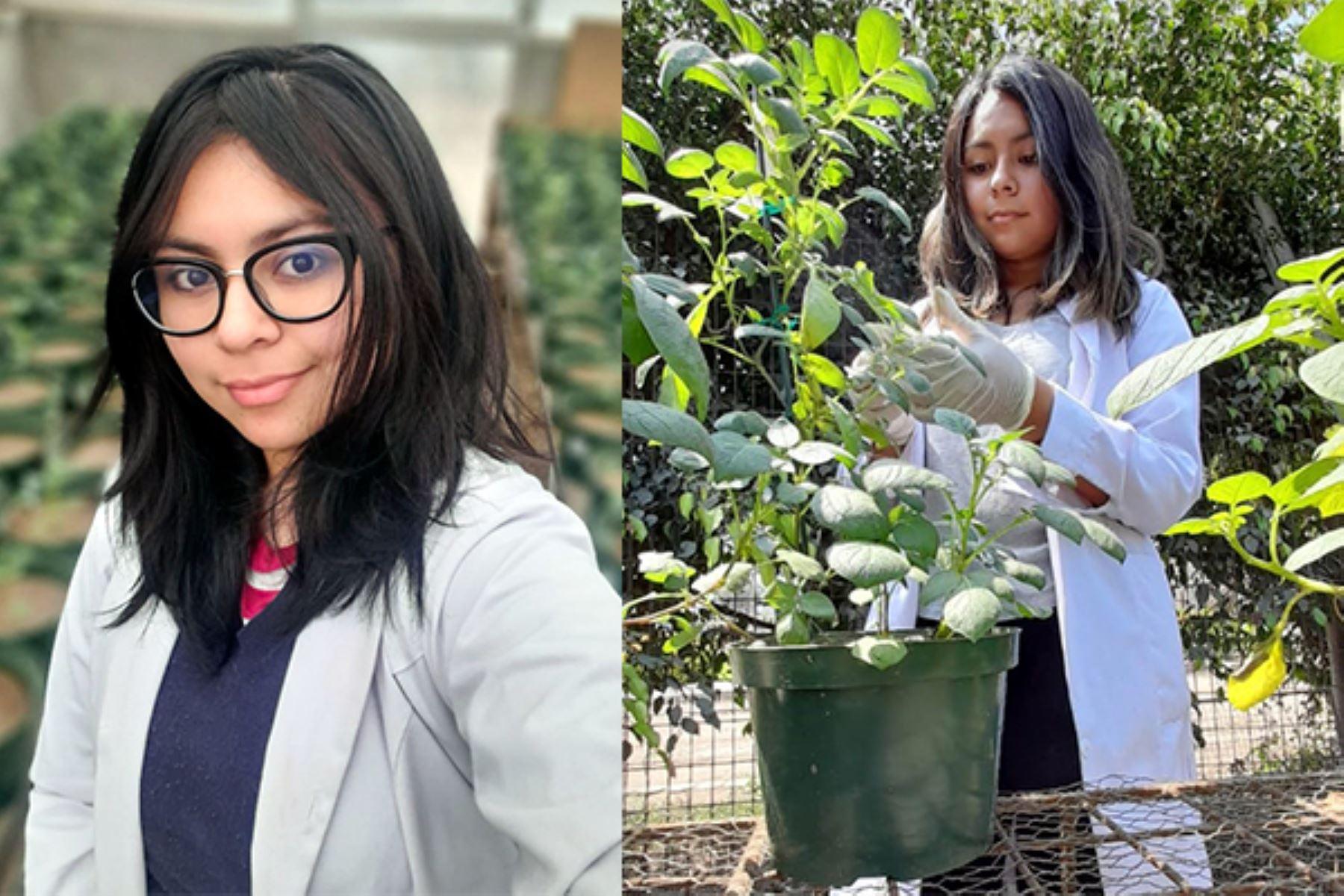 Shirley, la estudiante que busca combatir malnutrición a través de papas biofortificadas