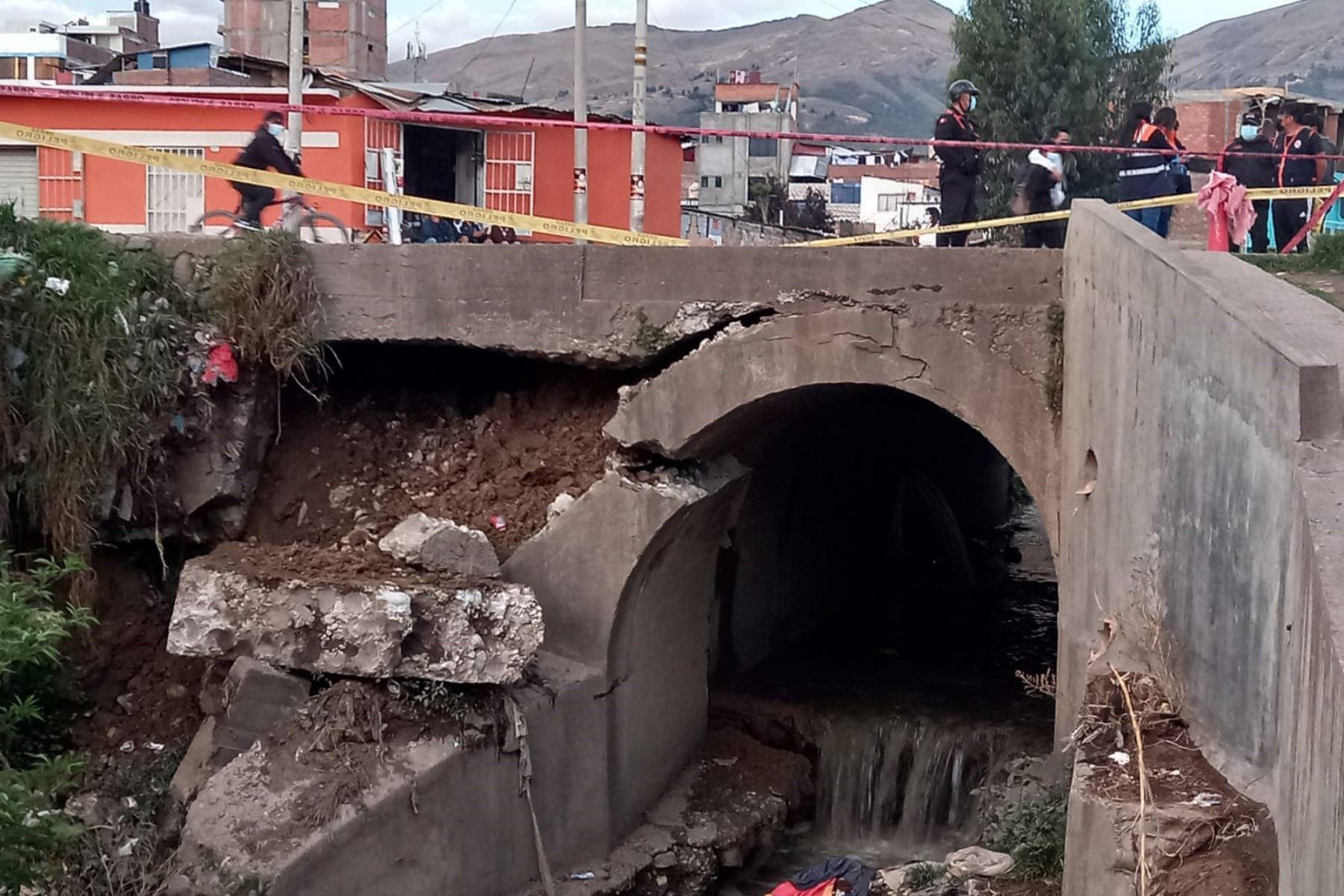 Huancayo: piden intervención urgente de autoridades tras colapso de puente
