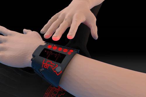 La pulsera Qanwan Qashani permite a una persona con discapacidad movilizarse de forma independiente y segura. Foto: UPN.
