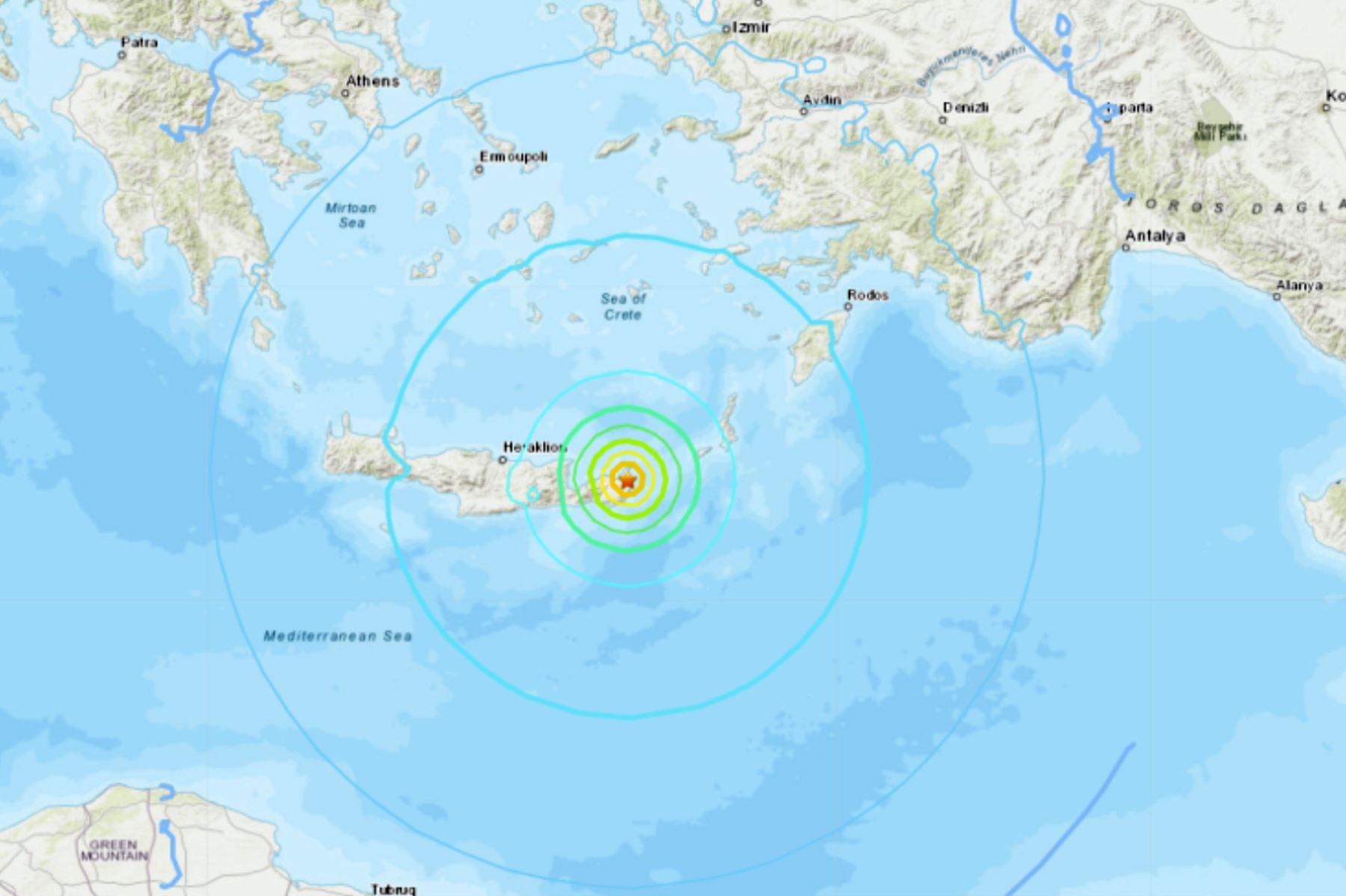 Terremoto de 6,3 en las costas de las isla griega de Creta