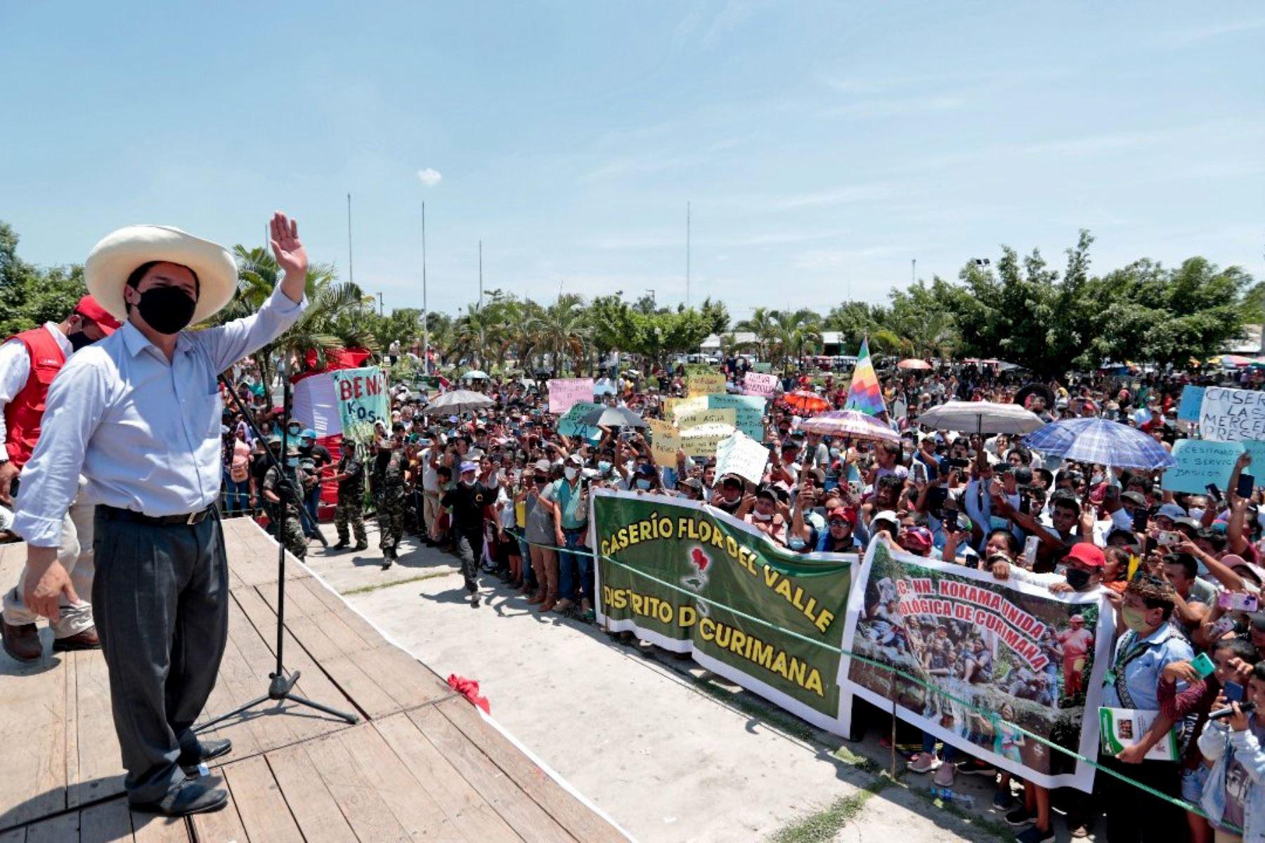 Presidente Castillo asegura que su Gobierno priorizará salud, educación y agricultura