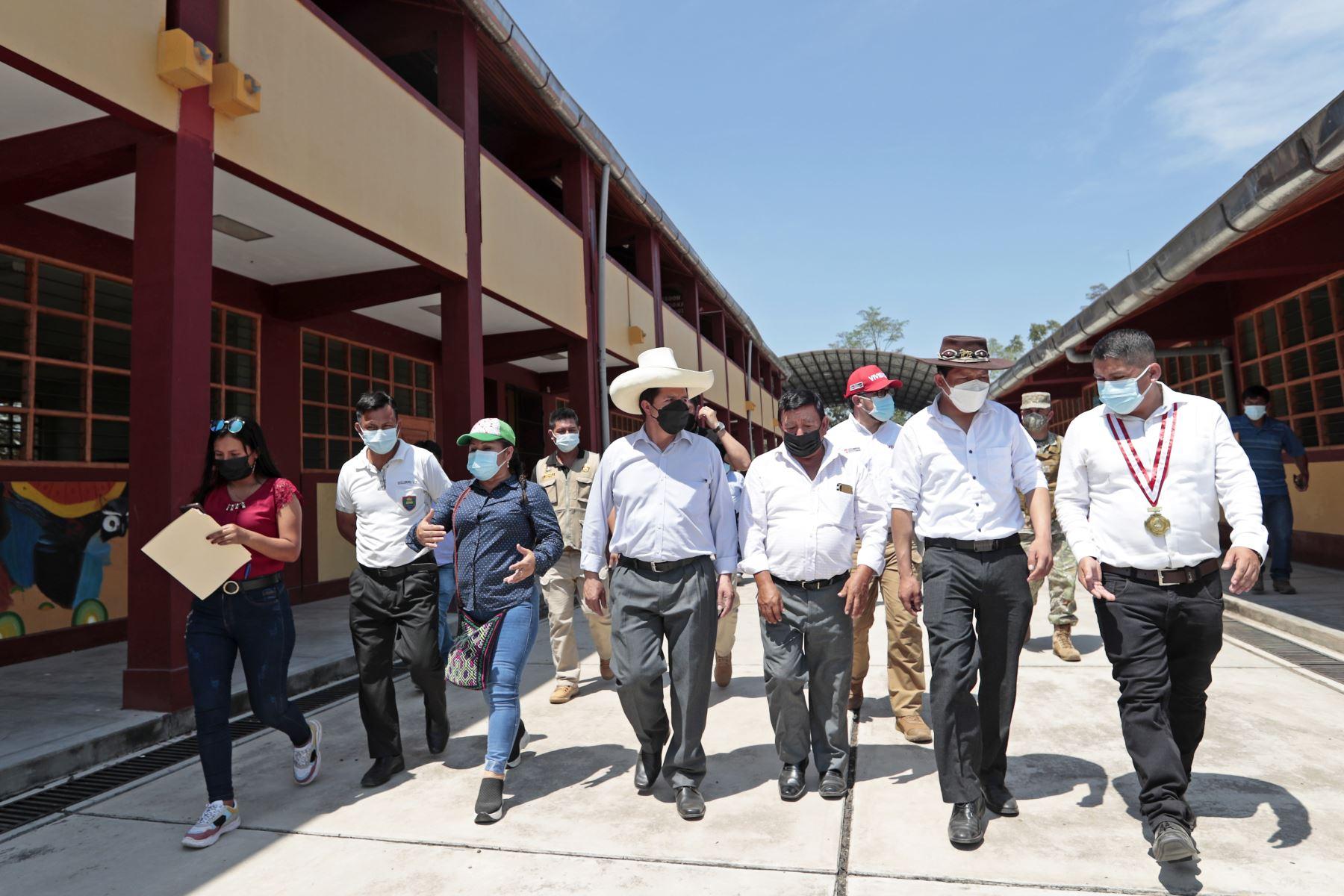 Presidente Castillo supervisa servicio de atención del Hospital de Picota