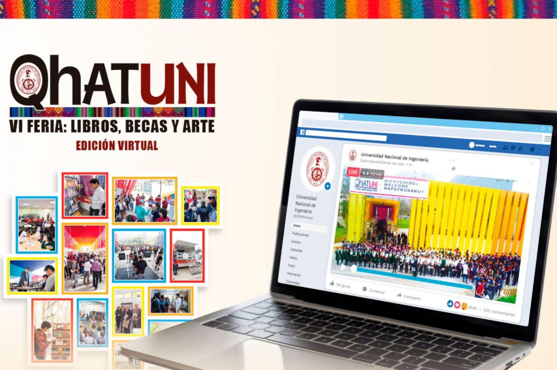 UNI: VI Feria de Libros, Becas y Arte Qhatuni inició jornada con novedades
