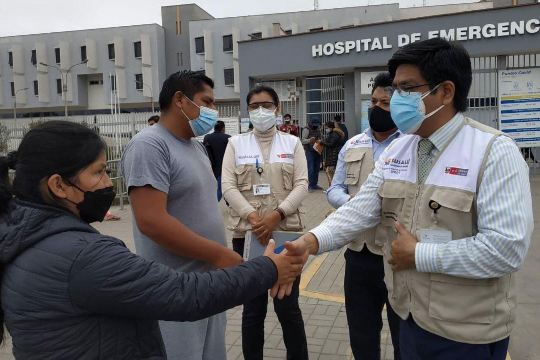 Susalud interviene en Hospital de Emergencias de Villa El Salvador