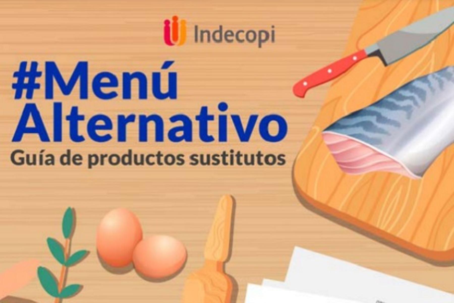 Indecopi lanza la guía '#MenúAlternativo' sobre productos alimenticios