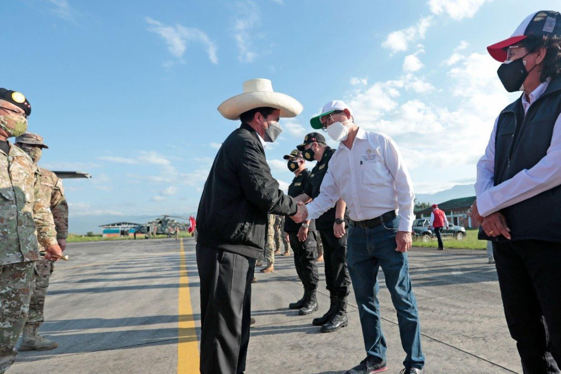 Presidente Castillo llega a Tarapoto para cumplir diversas actividades