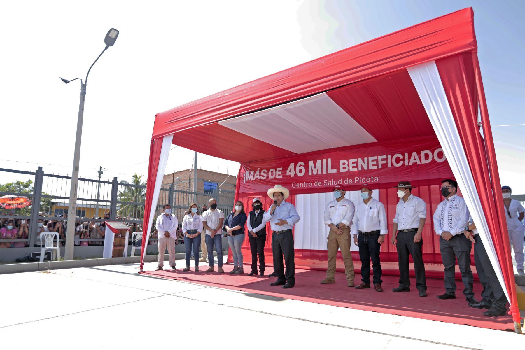 El presidente Pedro Castillo supervisa servicio de atención del Hospital de Picota. Foto: ANDINA/ Prensa Presidencia