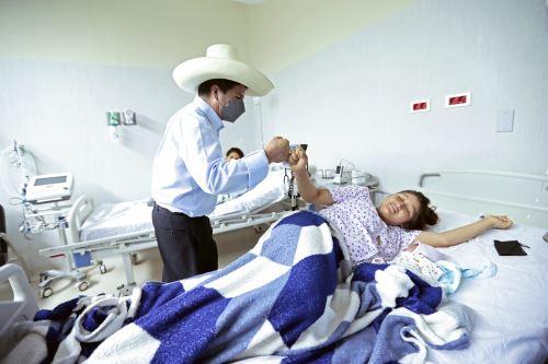 Presidente Pedro Castillo supervisa el servicio de atención del Hospital de Picota en San Martín