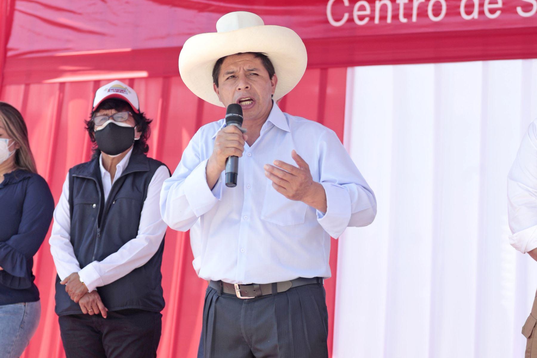 El presidente de la República, Pedro Castillo, arribó a la región San Martín y supervisó el servicio de atención del Hospital de Picota. Foto: ANDINA/ Prensa Presidencia