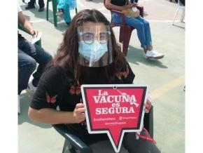 En los dos primeros días de la jornada de vacunación dirigida a menores de 15 a 17 años han sido inoculados 37,000. Foto: ANDINA/Difusión