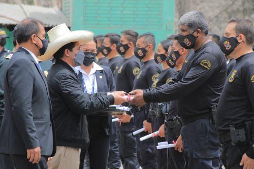 Presidente Pedro Castillo clausura el curso de Capacitación en Protección y Seguridad de Personalidades