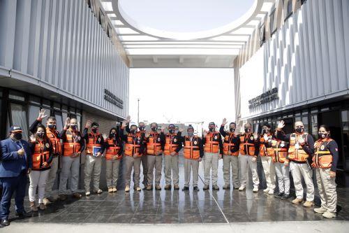 Presidente Pedro Castillo visitó instalaciones del COEN en Chorrillos