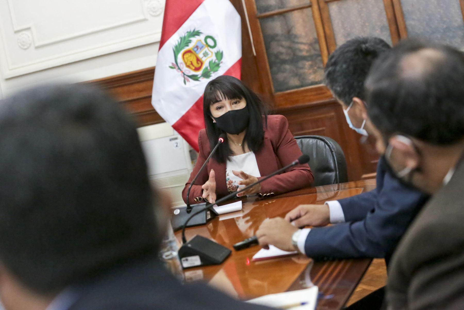 Presidenta del Consejo de Ministros, Mirtha Vásquez, se reunirá con congresistas. ANDINA/PCM