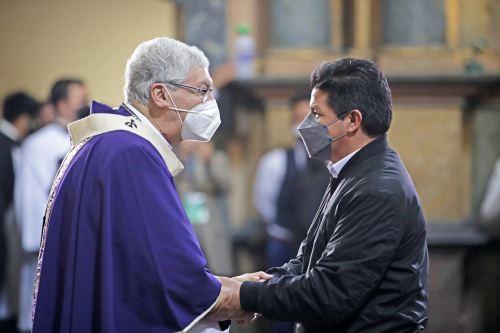 Presidente Pedro Castillo participa en Misa por la Nación en la iglesia Las Nazarenas
