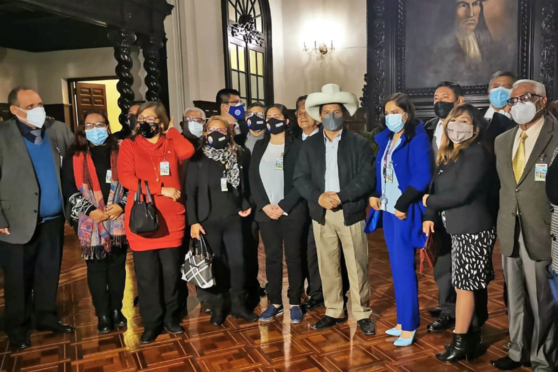 Presidente Castillo sostiene reunión con Asociación Nacional de Periodistas