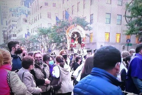 Señor de los Milagros: sagrada imagen recorrió las calles de Nueva York. Foto: ANDINA/Difusión.