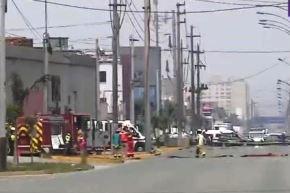 Controlan fuga de gas natural por rotura de tubería en el Cercado de Lima. Foto: ANDINA/Difusión.