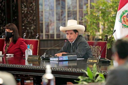 El jefe de Estado Pedro Castillo preside una nueva sesión del Consejo de Ministros