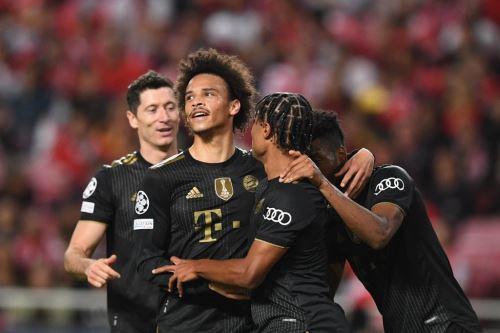 Bayern Munich goleó 4-0 de visita al Benfica por la Champions League