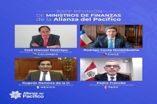 Ministros de Finanzas de la Alianza del Pacífico.