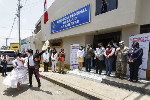 El ministro de Salud, Hernando Cevallos, cumplió agenda de trabajo en la región La Libertad. Foto: ANDINA/Difusión