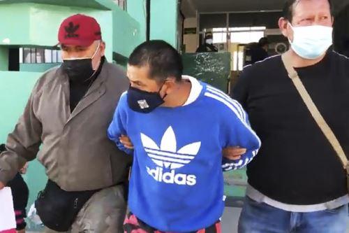 Javier Vecha Barahona Poma (37) fue ubicado y detenido en la vivienda de un familiar en Huancayo. Foto: ANDINA/Difusión