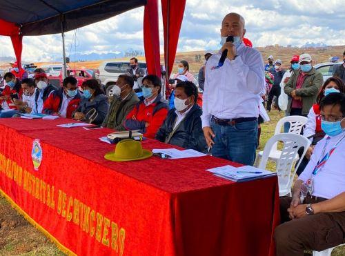 Ministerio de Vivienda culmina el expediente técnico del proyecto de agua y saneamiento para el distrito de Chinchero, provincia de Urubamba, región Cusco.