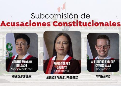 Rosio Torres presidirá Subcomisión de Acusaciones Constitucionales
