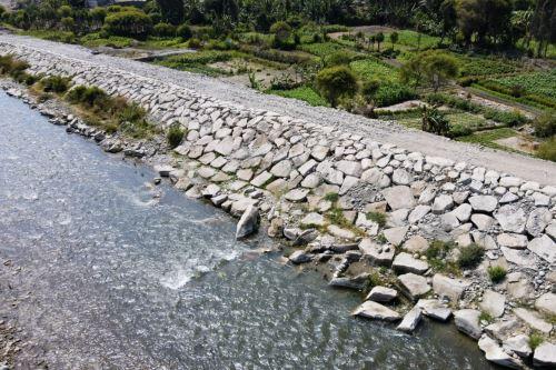 La construcción de defensas ribereñas en el valle de Huaura demandó una inversión de S/ 32.7 millones. Foto: ANDINA/Difusión