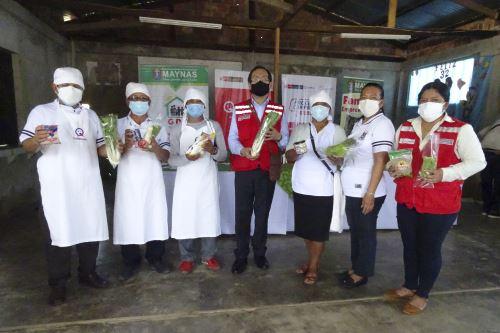 Complementarán el servicio alimentario escolar con hortalizas como rabanitos, lechuga, cebolla china, ají dulce, apio. Foto: ANDINA/Difusión