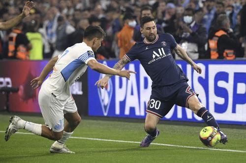 PSG y Marsella igualaron 0 a 0 en el Estadio Vélodrome