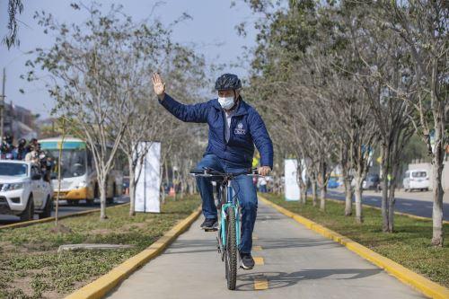 San Juan de Lurigancho: alcalde de Lima entrega nueva ciclovía en av. Los Tusilagos