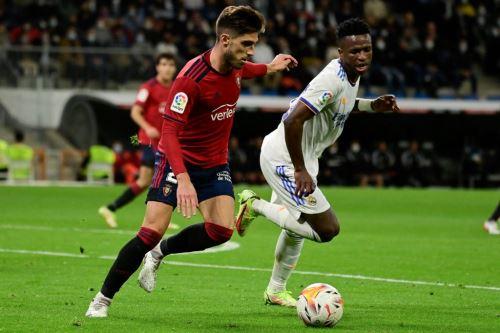 Real Madrid se enfrenta al Osasuna por la liga española