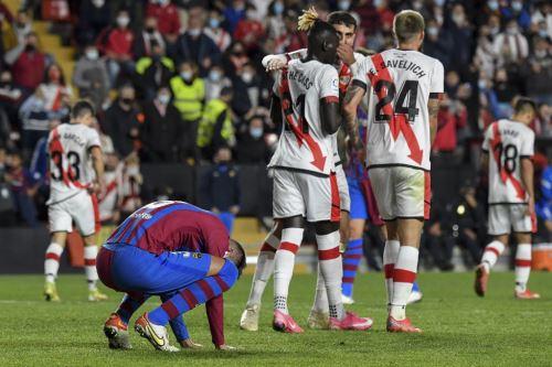 Barcelona cayó 1-0 ante el Rayo Vallecano por la liga española