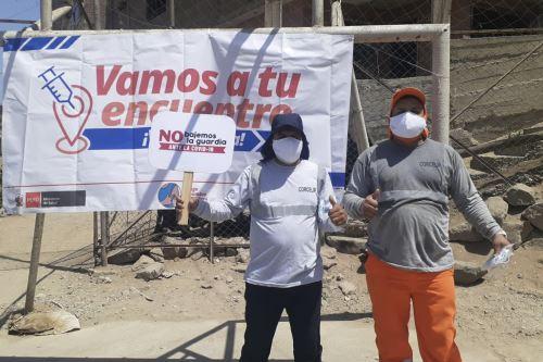Brigadas de vacunación del Minsa llegaron al AA.HH. Catalina Huanca en El Agustino