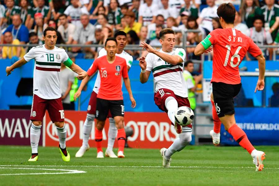 México derrotó 2-1 a Corea del Sur y lidera el grupo F